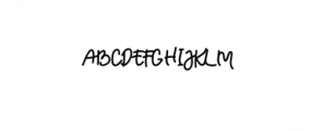 TRUMANS-Script.otf Font UPPERCASE