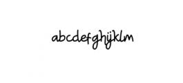 TRUMANS-Script.otf Font LOWERCASE