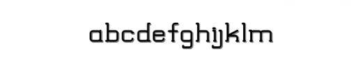 TRUMANS-Shadow.otf Font LOWERCASE