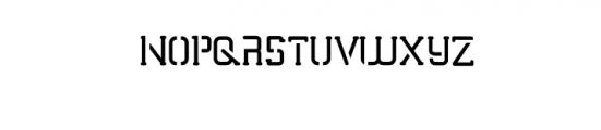 TRUMANS-Stencil.otf Font UPPERCASE