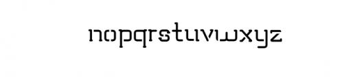 TRUMANS-Stencil.otf Font LOWERCASE