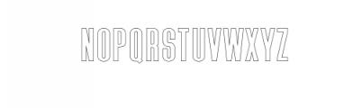 Triester Sans Outline.otf Font UPPERCASE