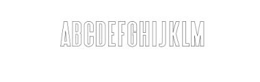 Triester Sans Outline.otf Font LOWERCASE