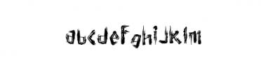 TrueTypeTTF Font LOWERCASE