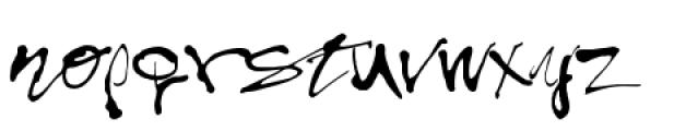 Treefrog Font LOWERCASE