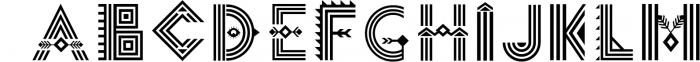Tribal Aleut OTF color font. Font UPPERCASE