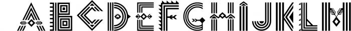 Tribal Aleut OTF color font. Font LOWERCASE