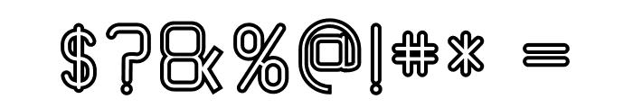 TRUMANS Outline Font OTHER CHARS