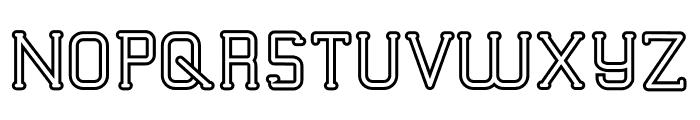 TRUMANS Outline Font UPPERCASE