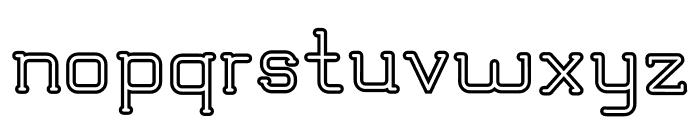 TRUMANS Outline Font LOWERCASE