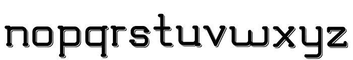 TRUMANS Shadow Font LOWERCASE