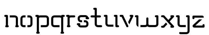 TRUMANS Stencil Font LOWERCASE