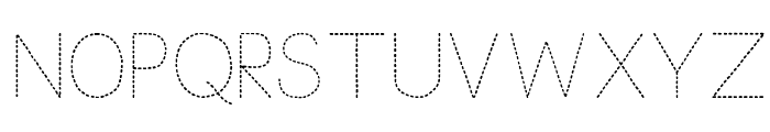 Trace Font for Kids Font UPPERCASE