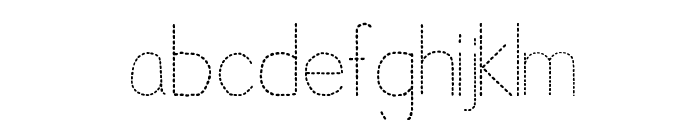 Trace Font for Kids Font LOWERCASE