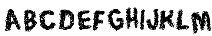 Trace of Rough Font UPPERCASE