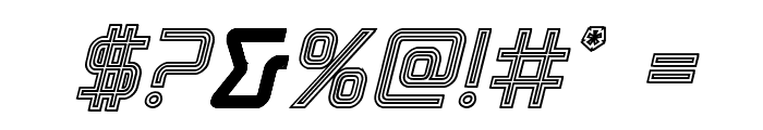 Tracer Engraved Italic Font OTHER CHARS