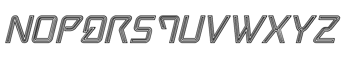 Tracer Engraved Italic Font UPPERCASE