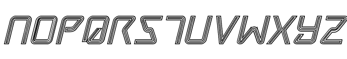 Tracer Engraved Italic Font LOWERCASE