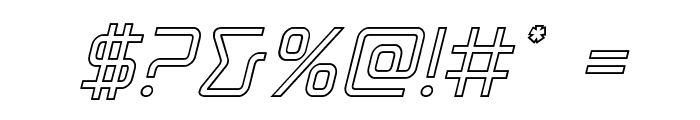 Tracer Outline Italic Font OTHER CHARS
