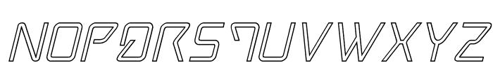 Tracer Outline Italic Font UPPERCASE