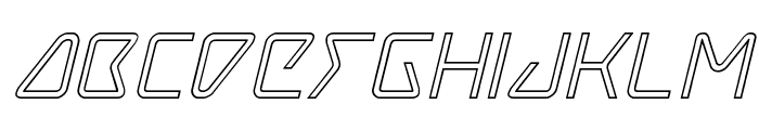 Tracer Outline Italic Font LOWERCASE