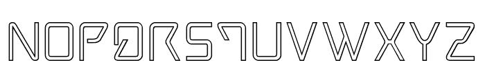 Tracer Outline Font UPPERCASE