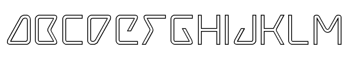 Tracer Outline Font LOWERCASE