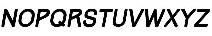 Track Italic Font UPPERCASE