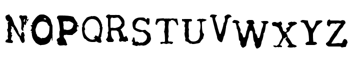 Tract Font LOWERCASE