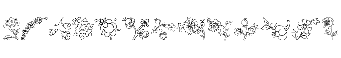 Traditional Floral Design III Font LOWERCASE