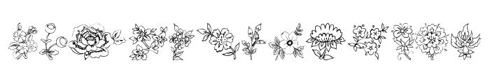 Traditional Floral Design II Font LOWERCASE