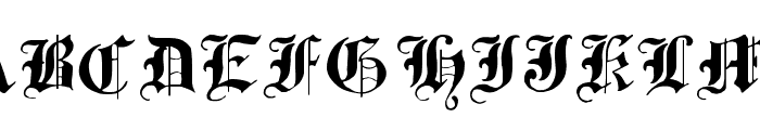 Traditional-Gothic--17th-c- Font LOWERCASE