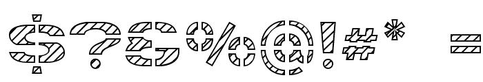 Trafaret Kit Hatched Font OTHER CHARS