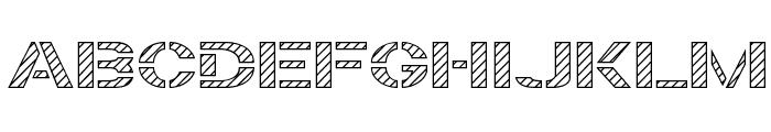 Trafaret Kit Hatched Font UPPERCASE