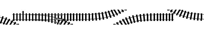 TrainTracks Font UPPERCASE