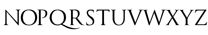 Trajanus Roman Font UPPERCASE
