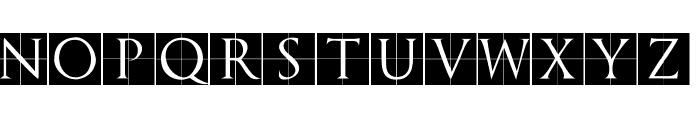 TrajanusBriX-Invers Font UPPERCASE