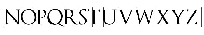 TrajanusBriX-Invers Font LOWERCASE