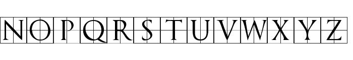 TrajanusBricks Font UPPERCASE