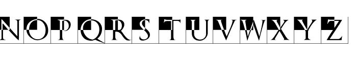 TrajanusBricksXtra Font LOWERCASE