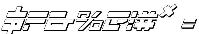 Trajia Laser Italic 3D Font OTHER CHARS