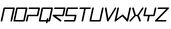 Trancemission BoldItalic Font UPPERCASE