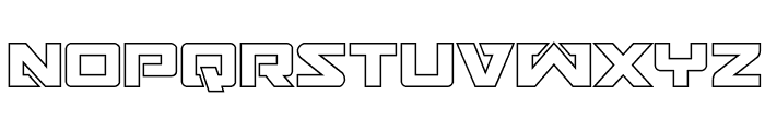 Trans-America Outline Font LOWERCASE