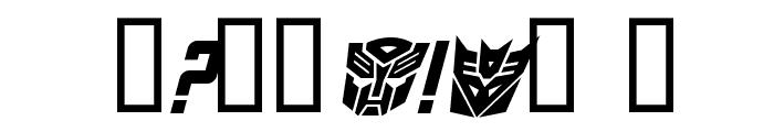 TransRobotics Bold Italic Font OTHER CHARS
