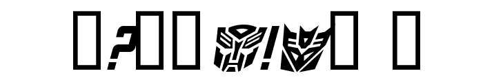 TransRobotics Italic Font OTHER CHARS