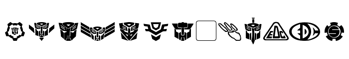 Transdings Font UPPERCASE