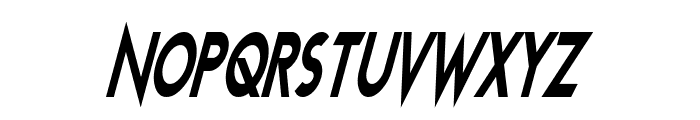 Transmetals Condensed Italic Font UPPERCASE