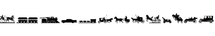 Transportation Dings Font UPPERCASE