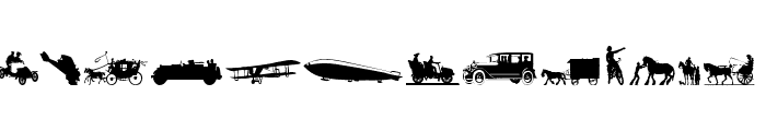 Transportation Dings Font LOWERCASE