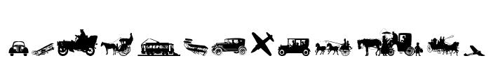 TransportationDings Font UPPERCASE